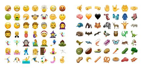 emoji update for android here s a look at some of the cool new emojis coming in the june update