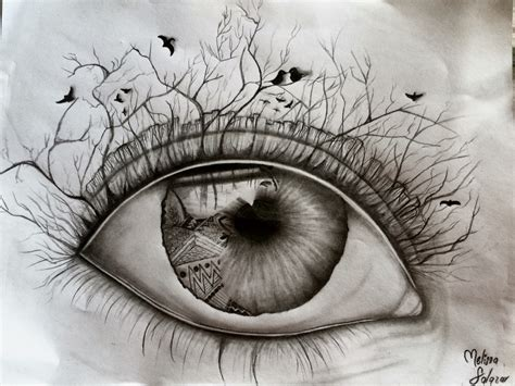 imagenes surrealistas tumblr dibujo a l 225 piz ojo melissa salazar dibujos pinterest