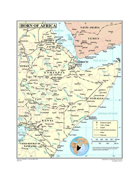 horn of africa map horn of africa map horn of africa mappery