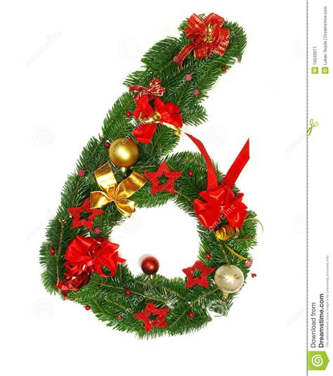 christmas alphabet number 6 stock image image 16640077