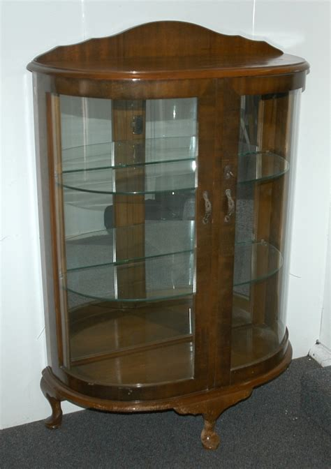 1940 s bow front china cabinet australiana