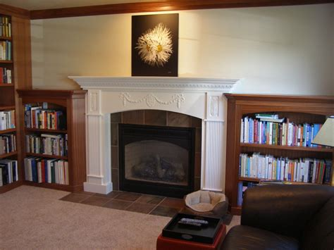 Library Fireplace by Library Entertainment Center And Updated Fireplace
