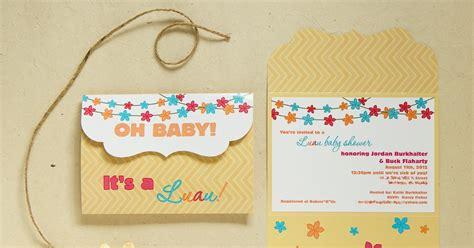 Luau Themed Baby Shower Invitations by Jaime Kae Hazen Photography Graphic Design Luau Baby Shower Invitation Custom Design