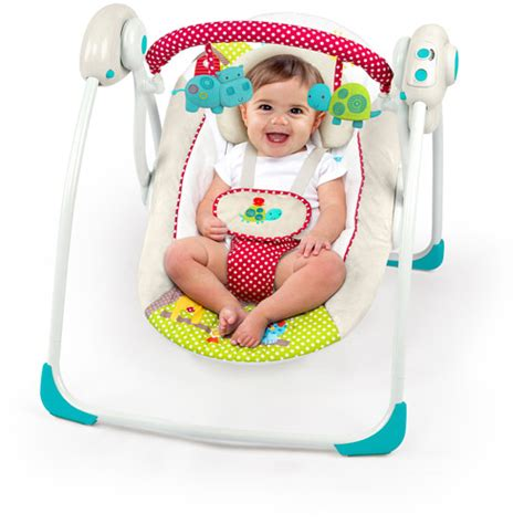 bright start swings bright starts polka dot parade portable swing walmart com
