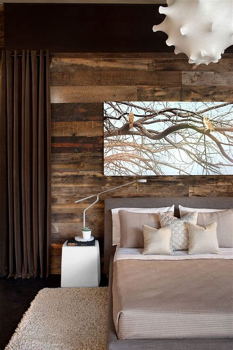 25 Awesome Bedrooms With Reclaimed Wood Walls Wooden Bedroom Designs
