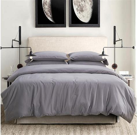 Grey Bedspread Light Grey Gray 100 Cotton Bedding Set King
