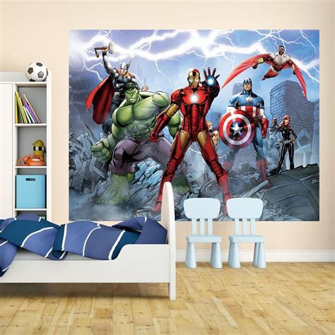 marvel wall mural marvel comics and wallpaper wall murals d 201 cor bedroom