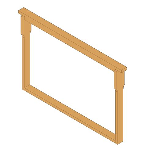 top bar frames frames frame 435x300 with separator and groove in top bar