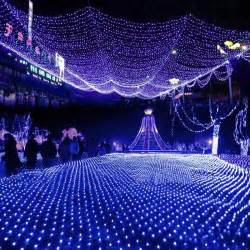 blue net lights led net lights large outdoor decorations garden