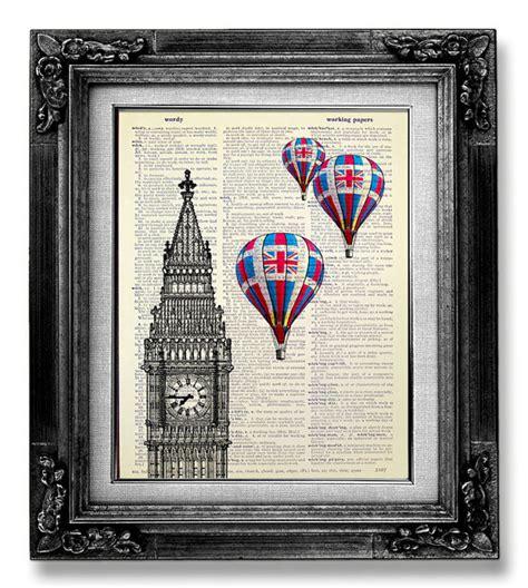 home decor london home office decor london art print big ben print hot air
