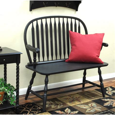 antique windsor bench carolina cottage windsor antique black bench 42 36 the