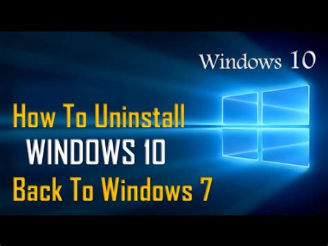 tutorial downgrade windows 10 how to downgrade windows 10 to windows 7 windows 10