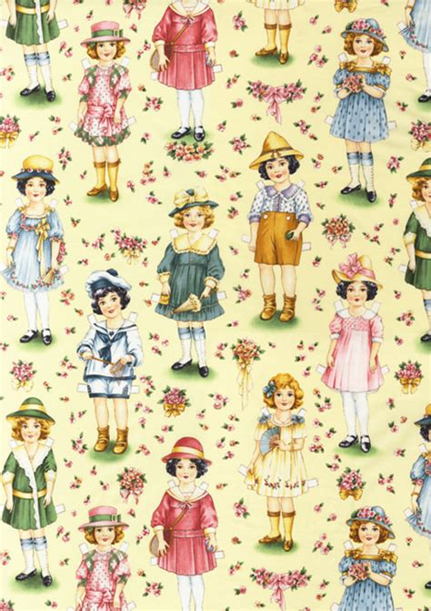 How To Make Fabric Paper Dolls - utterly adorable paper doll fabric