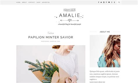 lifestyle blog design amalie a clean minimal blogger template
