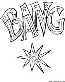 Fireworks coloring page for the fourth of july