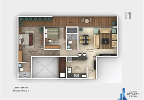 2 bhk home design layout premium property in hadapsar pune for sale gateway towers floorplans