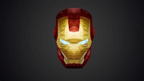 wallpaper iron man  poly minimal hd creative