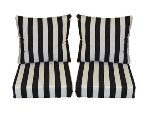 black and white stripe cushions for patio outdoor seating