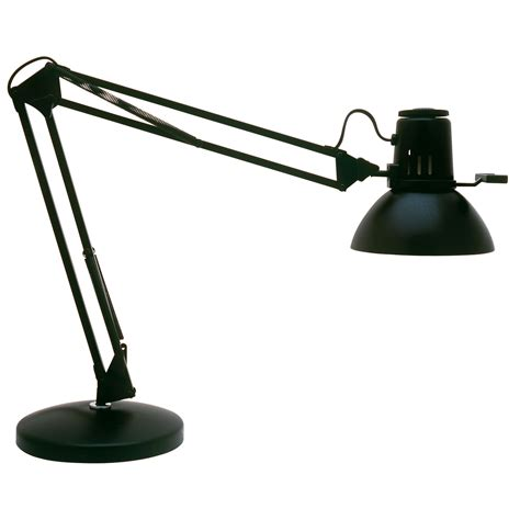 Desk Lighting Fixtures Dainolite Balanced Arm Desk L 36 Quot Reach Gloss Black Finish Table L Fixtures