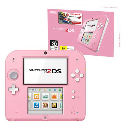 2ds console nintendo 2ds mario kart 7 console bundle pink white