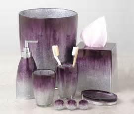 Elegant amp sophisticated purple bathroom accessories