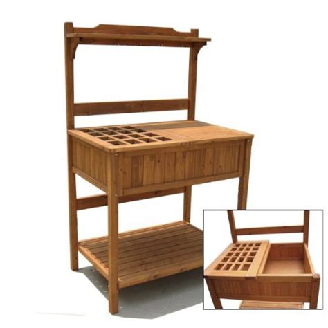 buy potting bench buy price solid fir potting bench with recessed storage