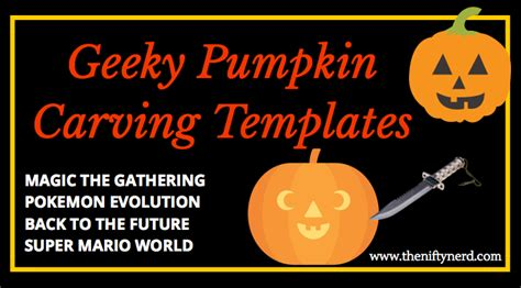 geeky halloween pumpkin carving templates with printable pdfs