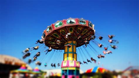 carnival swing ride carnival swing ride at midway stock footage video 1937761