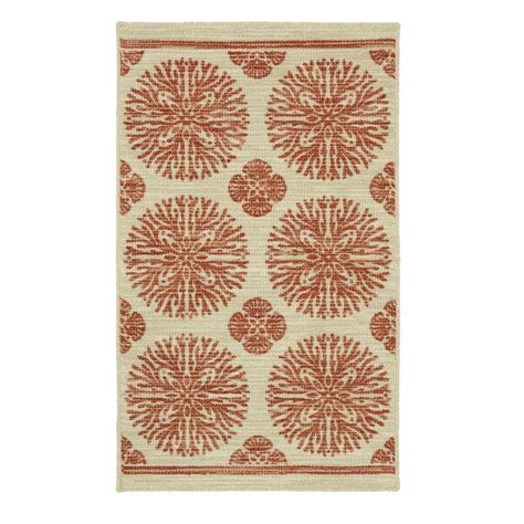 coral accent rug mohawk home coral medallion rustburn 1 ft 8 in x 2 ft