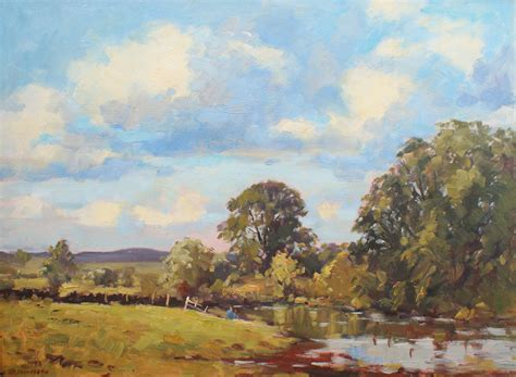 Landscape Glasgow J D Henderson Scottish Artist Landscape The Kelvin