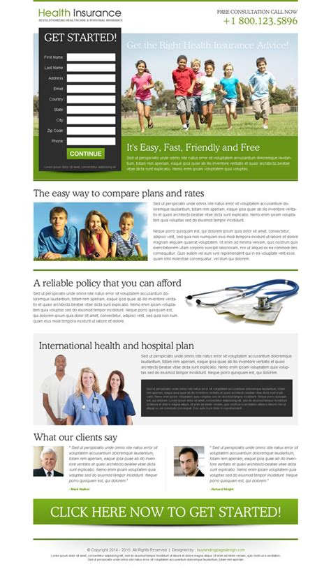 free capture page templates converting insurance lead generation landing page design