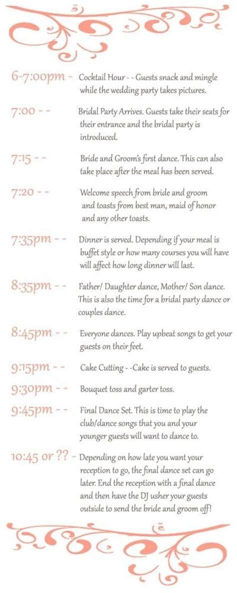 Best 25  Reception timeline ideas on Pinterest