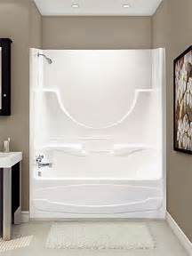Bath And Shower Unit acrylic units are distinguishable since they have an integral top