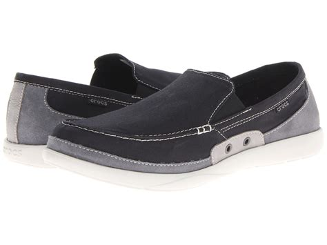crocs walu accent loafer black charcoal s slip on