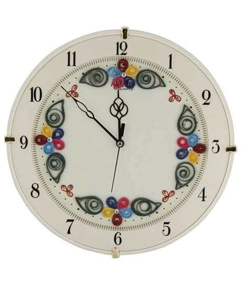 designer wall clocks online india ajanta designer wall clock d ivory buy ajanta designer