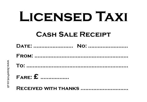 taxi receipt template taxi receipt format taxi receipt format printable