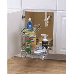 Kitchen Cabinet Sliding Racks by Kitchen Under Sink Storage Basket Cabinet Sliding Drawer