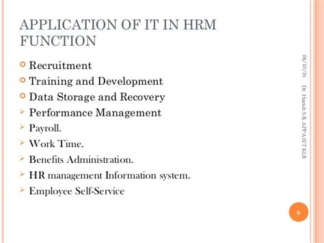 information technology in human resource management