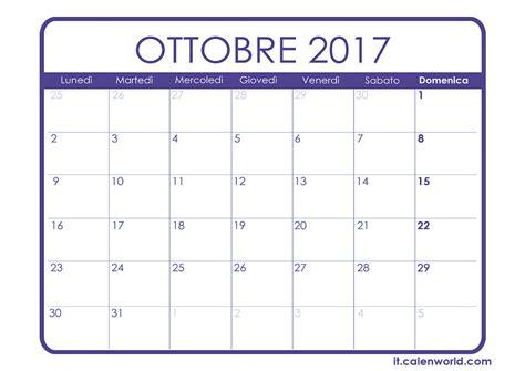 Calendario Lunare Settembre 2017 Calendario Ottobre 2017 Calendari