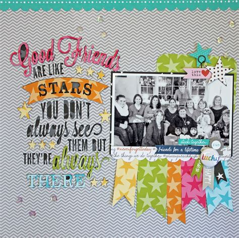 best 20 friend scrapbook ideas on pinterest my happy place paper issues count your lucky stars issue