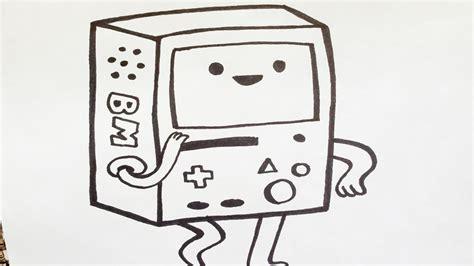 imagenes para dibujar a lapiz de cartoon network como dibujar a bmo how to draw bmo como desenhar o bmo