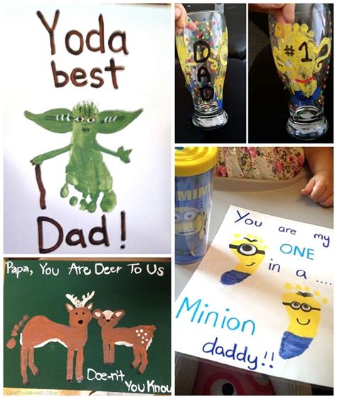 fathers day crafts s day footprint gift ideas from the crafty