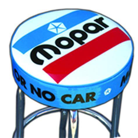 Mopar Bar Stool With Back by Mopar Collectables Dodge Signs Chrysler Clocks Jim S