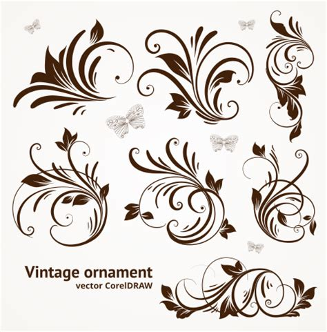 pattern vector cdr free download free download vector vintage ornament format coreldraw