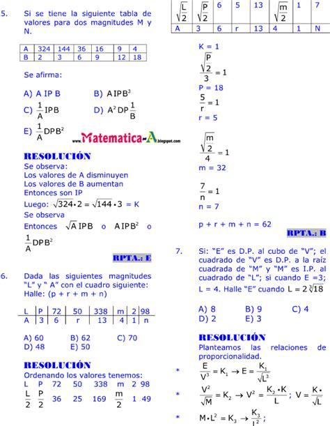 imagenes de matematicas resueltos magnitudes proporcionales ejercicios desarrollados paso a