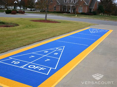 backyard shuffleboard court grass more outdoor services shuffleboard courts in