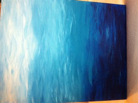 Ombre Acrylic On Canvas Painting 30 00 Via Etsy