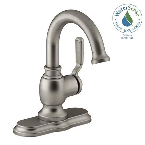 single bathroom sink faucet brushed nickel kohler worth single 1 handle bathroom faucet in