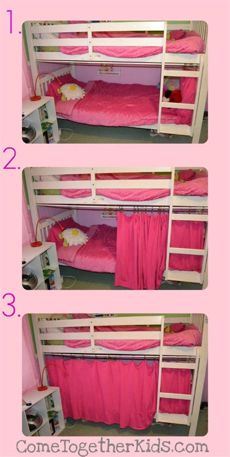 bottom bunk curtains diy bunk bed curtains native home garden design