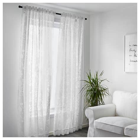 White Sheer Curtains Borghild Sheer Curtains 1 Pair White 145x250 Cm Ikea